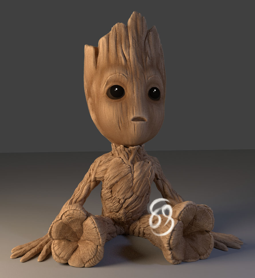 Baby Groot by Byambaa - Thingiverse