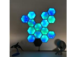 Hexagon LED wall lamp