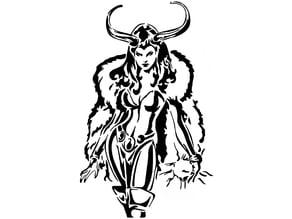 Female Loki stencil 2