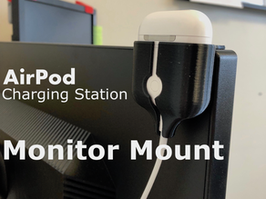 Air Pod Charging Station Monitor Mount