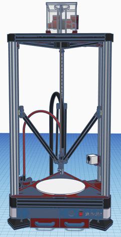 Quadcells Delta Bot  3D Printer Build (310mm Bed, 1 Meter Tall)