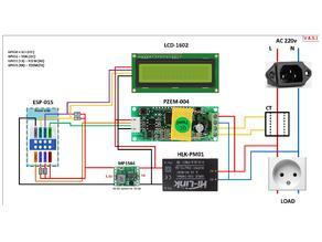 PZEM-004 portable power monitoring unit