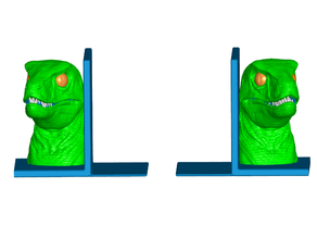 Velociraptor Bookends (Left and Right)