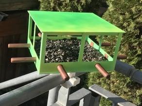 Birdfeeder for balcony railings