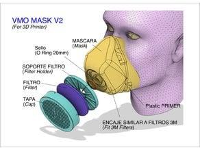 VMO MASK V2 - 3D-PRINTED PROTECTIVE  - Coronavirus  COVID-19