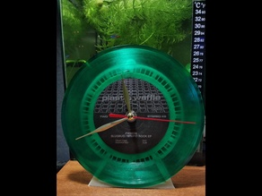[translucent] 7 inch vinyl single desk clock