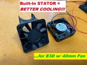 E3D Duct - 40mm w/ Stator Vanes