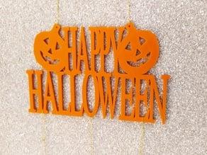 pumpkin happy halloween decoration