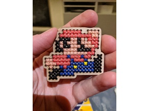 Mario simple crossstitch