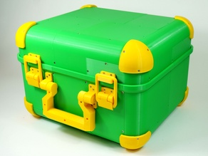 Rubik's Cube Robot Carrying Case, Fully 3D-Printed