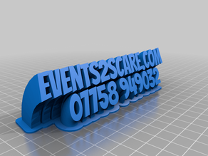 My e2sCustomized Sweeping 2-line name plate (text)
