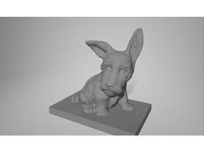 A 3D scan of a dog