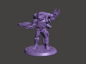 Cyborg / Servitor 28mm Miniature - Mechanical Zombie