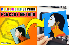Multicolored 3D Print : Pancake Method