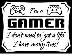 2d Gamer sign