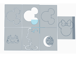 Mickey and Minnie Stencils