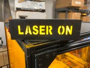 Laser Warning Light Sign