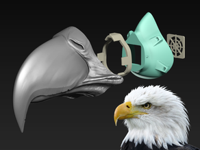 COVID-19 Mask Cap, Bald Eagle Edition