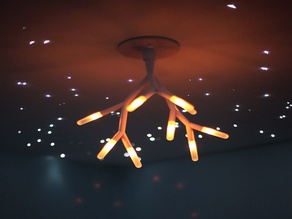 Tenergy Lumi Bloom Table Lamp as a Ceiling Fixture