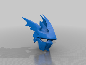 Dukemon / Gallantmon crimson mode helmet (+resolution) - Digimon