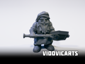 Dwarf With Two Handed Axe