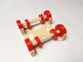 Easy to use Spool Holder with four 3D printed Gear Bearings optimised for an Enclosure