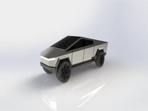 Tesla Cybertruck - High detail, 130mm, STL & STEP