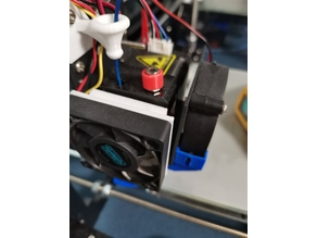 Extruder fan mount magnet reduction 50 mm