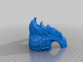Demon skull (fixed nose) cut 4 parts