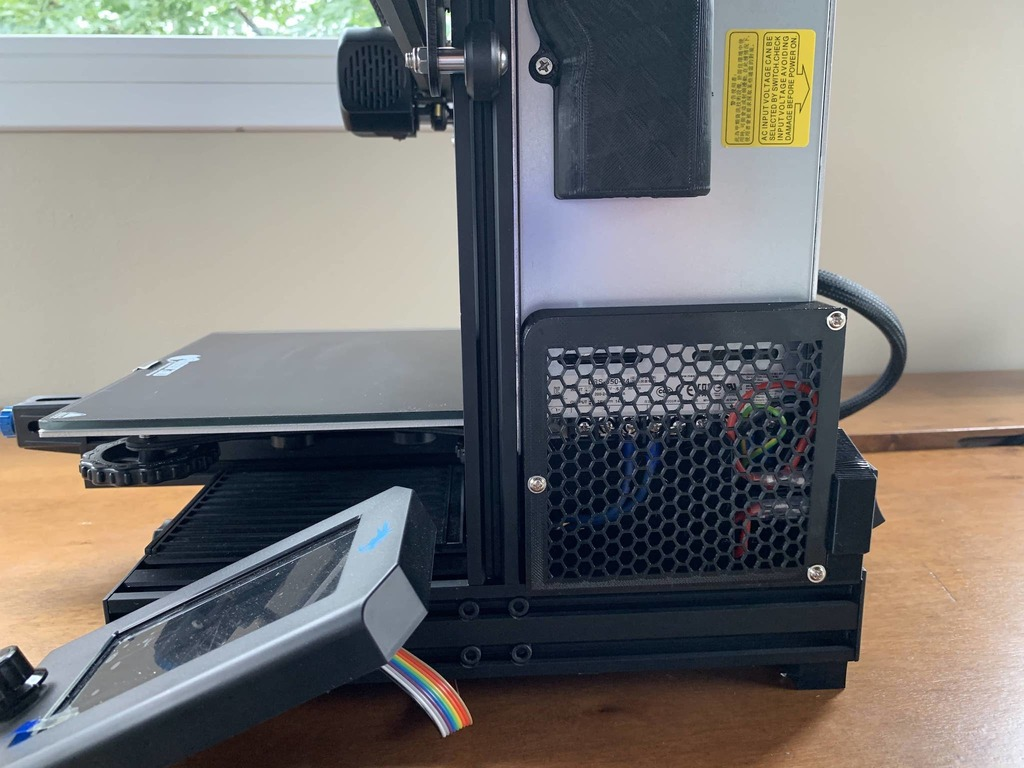Ender 3 Pro and Ender 3 V2 PSU Cover Honeycomb (with space for relay or buck converter)