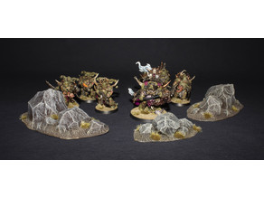 Rock Terrain Base / Rock Terrain miniature stands