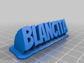 Blancita name plate