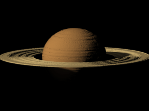 Saturn scaled one in 500 million