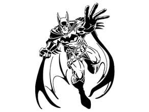 Batman stencil 5