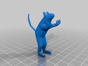 Low Poly Standing Mouse