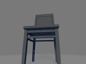 The chair...