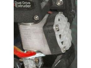 Tilt fan duct and domed 30mm fan grille for E3D V6 hot end (updated)