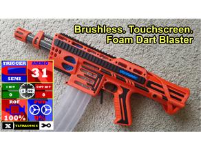 "The ""UltraSonic"" a Brushless, Touchscreen Foam Dart Blaster"