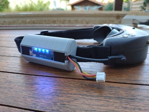 FPV Goggle Battery Case for 18650 with Charge Meter