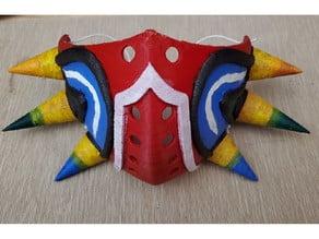 Majora's ppe Mask - Scaled, Sliced for printing.