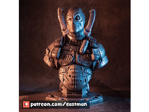 Deadpool bust (Remastered Supportless Edition) (fan art)