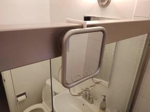 Shower mirror hook