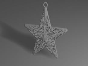 Voronoi Star Ornament