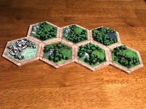 Catan Wood Variants For Dakanzla 2.0 Magnetic Base Set
