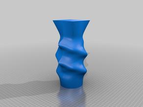 Spiral mineral vase