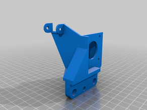 Dual Gear Direct Drive Extruder Mount with Cable Chain Attachment for Ender 5 Plus