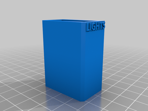 Lights switch box with logo for ANYCUBIC I3 MEGA