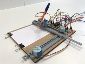 Simple CNC plotter (Drawing Machine)