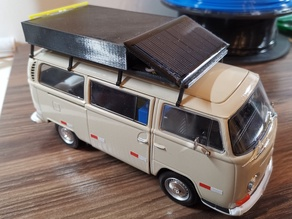 Vanlife VW T2 with roof rack and interior (model)