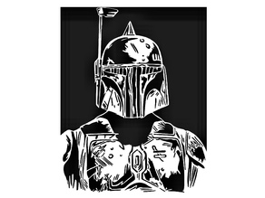 The Mandalorian stencil 5